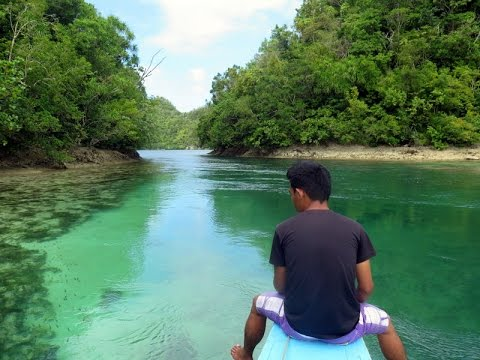 Secret Lagoon and Mangroves in Del Carmen, Siargao