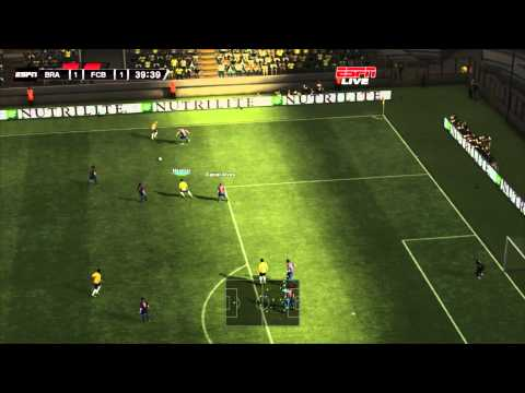 demo GAMEPLAY pes 2012 brasil vs barcelona 1080p full graphics HD
