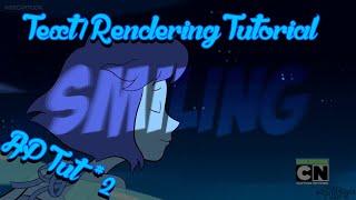 [SV] Text/Rendering Tutorial {Tut #2}