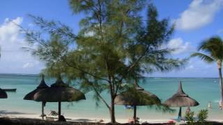 Room and beach at Ambre Resort & Spa, Mauritius