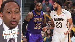 Lakers and Knicks will struggle to get Anthony Davis –Stephen A. | First Take thumbnail