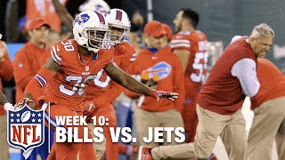 Rex Ryan Goes Crazy on Sideline After Game-Winning INT!  | Bills vs. Jets | NFL