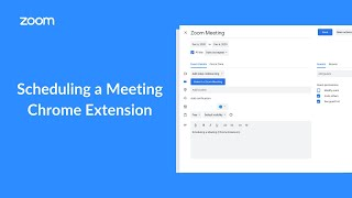 Scheduling a Meeting (Chrome Extension)