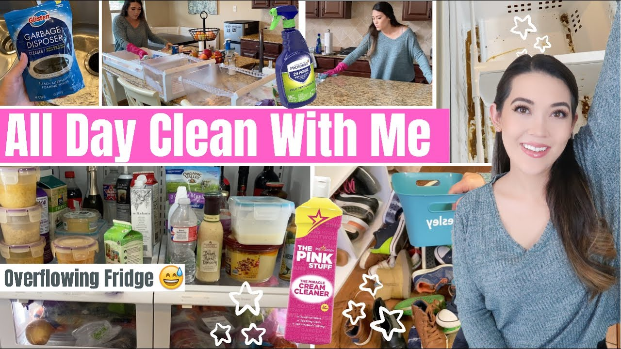 *NEW* EXTREME CLEAN WITH ME KITCHEN DECLUTTER | Messy House Cleaning & Refrigerator Decluttering