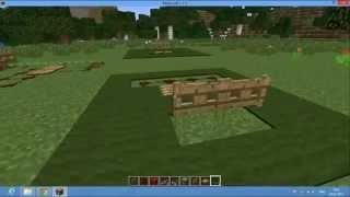 Обучение Minecraft. Как открыть две двери одной нажымной плитой. Для новичков