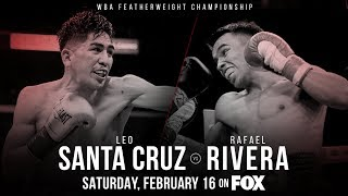 Leo Santa Cruz vs Rafael Rivera Full fight 12rds