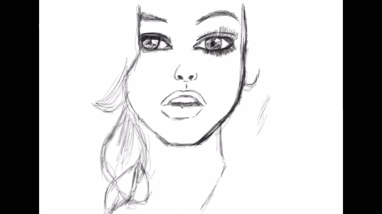 Как нарисовать девушку фото 406-582