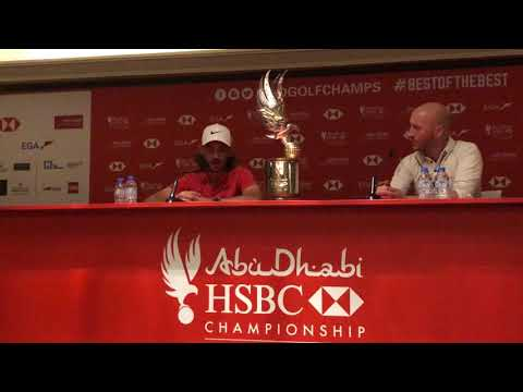 How did Tommy Fleetwood asses 2017 at the 2018 Abu Dhabi HSBC Golf Championship?