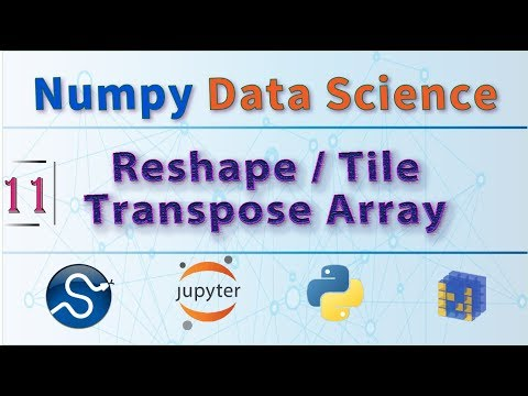 Python Data Science Course, Learn Functions: NumPy Reshape