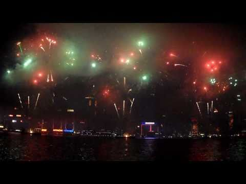 Hong Kong Lunar New Year Fireworks part 1 of 2 - The First 20 minutes!
