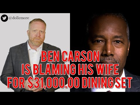 Ben Carson Blames Wife for Outrageous $31,000 Dining Room Furniture for His Office!