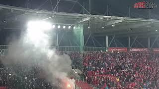 2L: Widzew Łódź - ROW Rybnik [fans, palenie barw]. 2019-03-09
