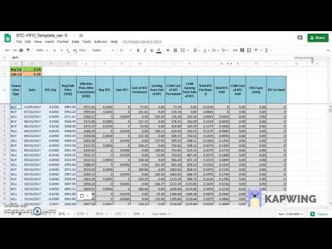 BTC FIFO Calculator Google Sheet Version