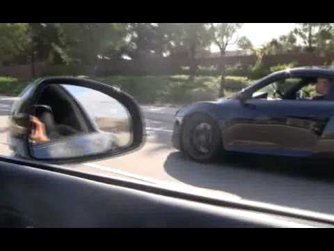 Supercharged VF550 Audi R8 V8 vs. stock V10 R8