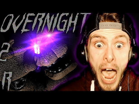 Overnight 2: Reboot Night 2 Demo Gameplay! | READY FOR FREDDY? - FNAF Free Roam Horror Game - Part 2