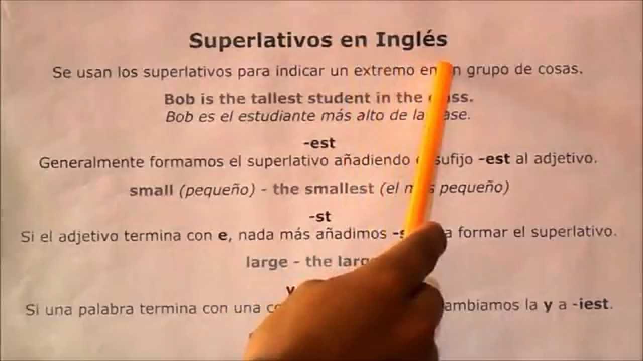 Superlativos Comparativos Tutorial De Ingles