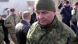 """Блокада у Конотопі.Очільник поліції Сумської обл  пан Лушпієнко показав своє """"Я"""""""