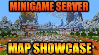 MINIGAME SERVER MODDED MAP SHOWCASE! - Minecraft Xbox 360/One/PS3/PS4/WiiU