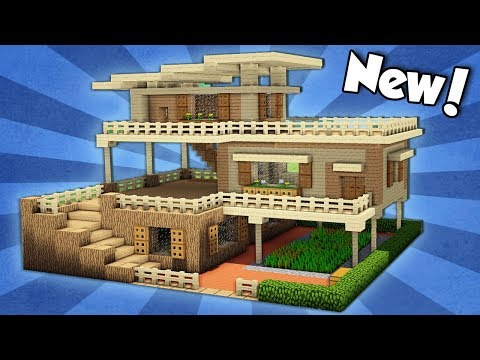 Minecraft How To Build A Large Starter House Tutorial 2 Youtube