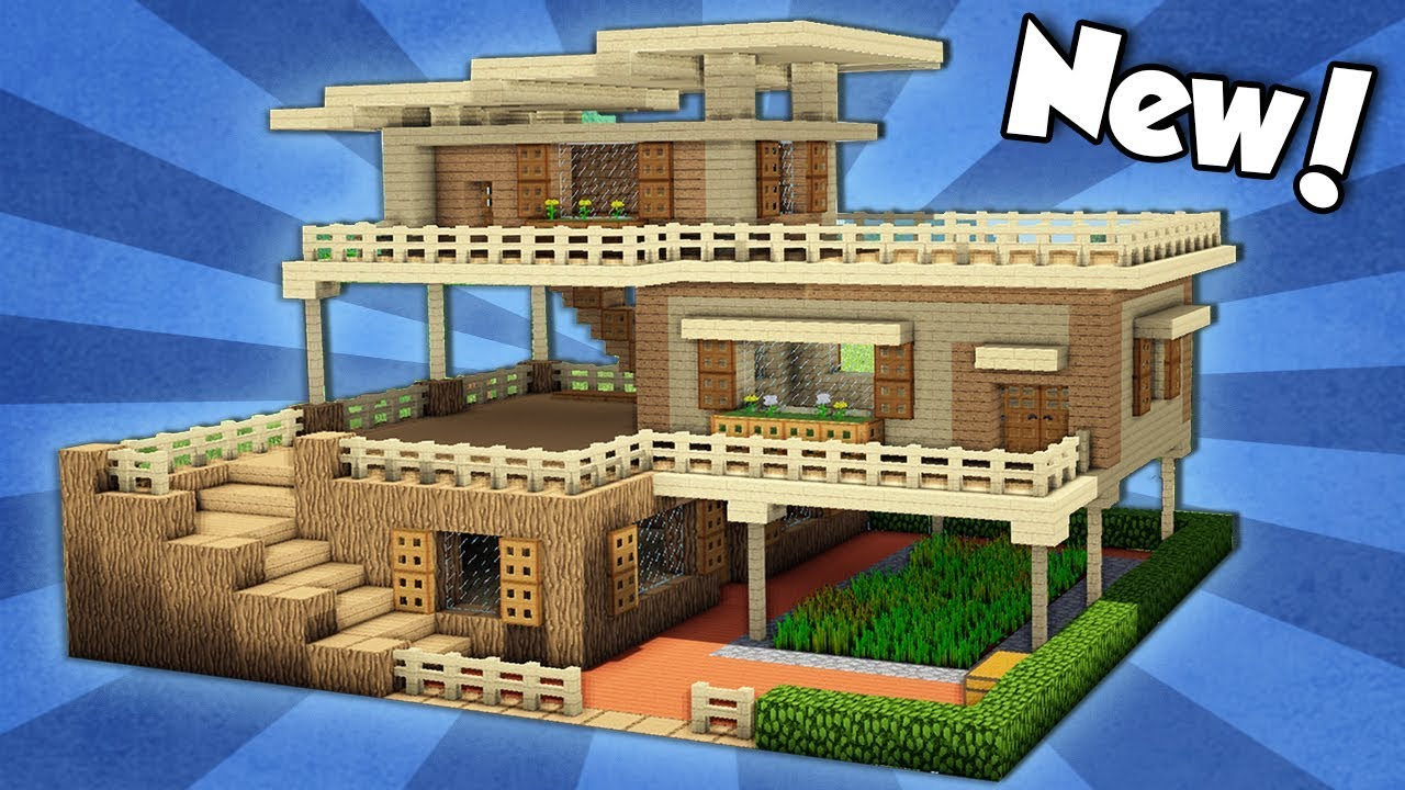 Minecraft  How To Build A Large Starter House Tutorial   2