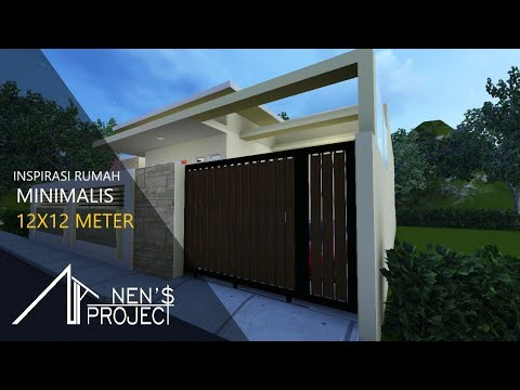 desain rumah minimalis 12x12 meter 3 kamar tidur luas