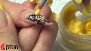 Наращивание и дизайн ногтей цветными 3Д гелями