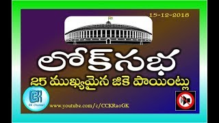 Download Loksabha || 25 Most Important GK Points in Telugu Mp3 and Videos