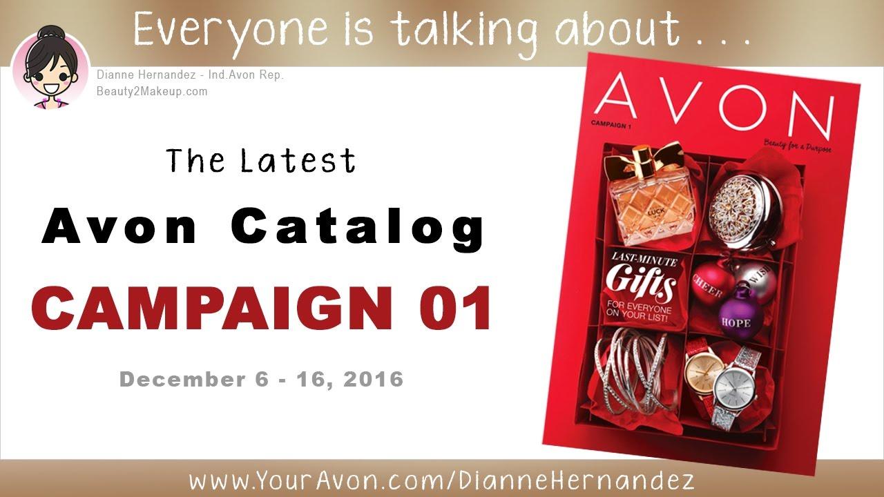 Avon Catalog Campaign 1 2017 - Avon Christmas & Holiday Edition ...