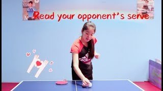 How to Read Opponent's Serves