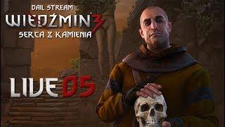 Wiedźmin 3: Serca z Kamienia - Zaczynamy DLC na ślepo! (05) #live #giveaway - Na żywo