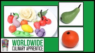 Marzipan Fruits - Cake Decoration - Desert Garnishes - Sweet Treats - Sugar  Garnishes  -art
