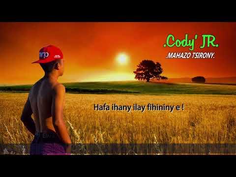 TSOTA - Mahazo tsirony (Cody JR COVER) [LYRICS VIDEO]  (Official audio 2019)