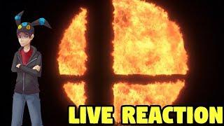 LIVE REACTION to Super Smash Bros on Nintendo Switch! Nintendo Direct Reaction 2018