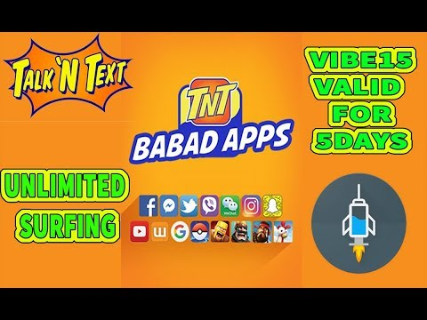 Vibe15 promo valid for 5days unlimited data for TNT using http injector