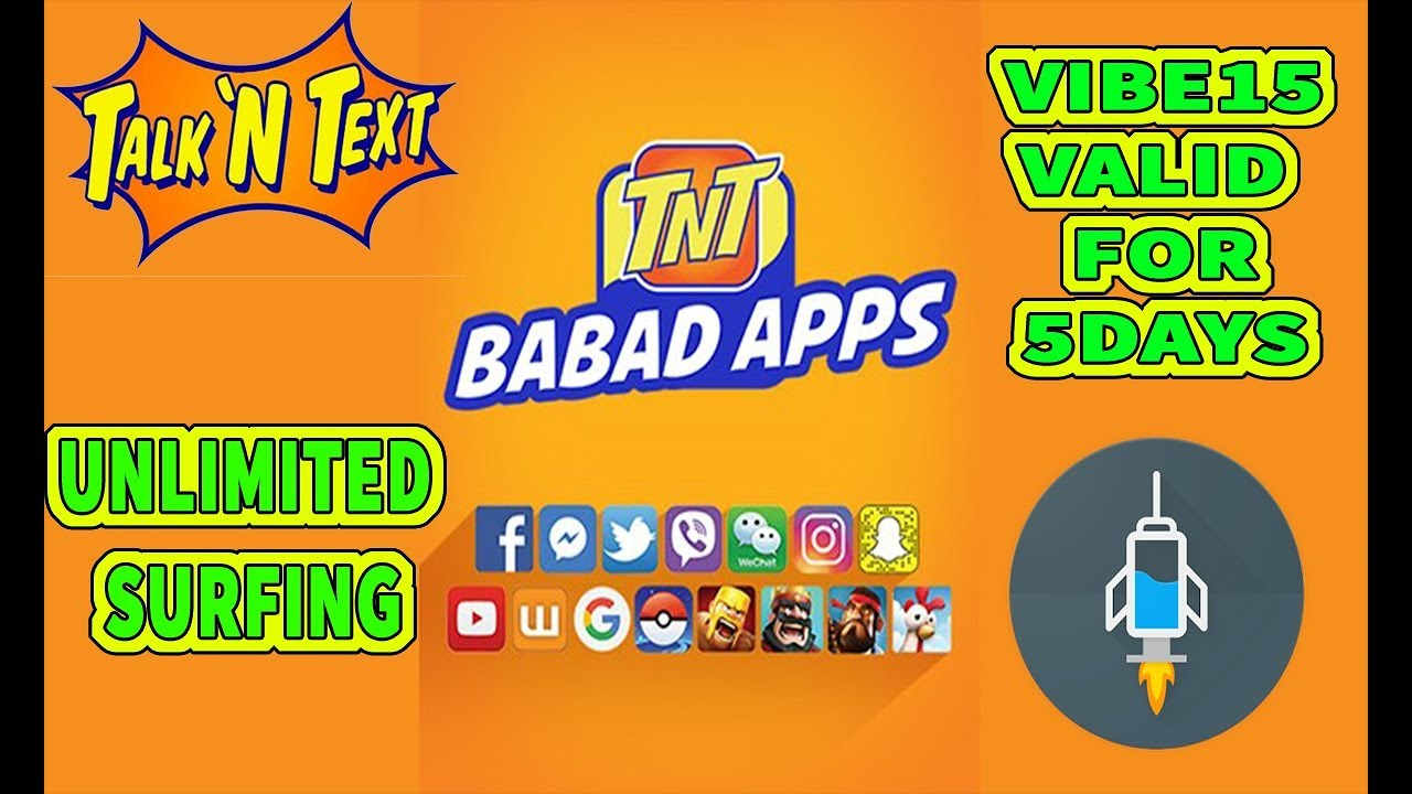 b8eb5c4c46 Vibe15 promo valid for 5days unlimited data for TNT using http injector