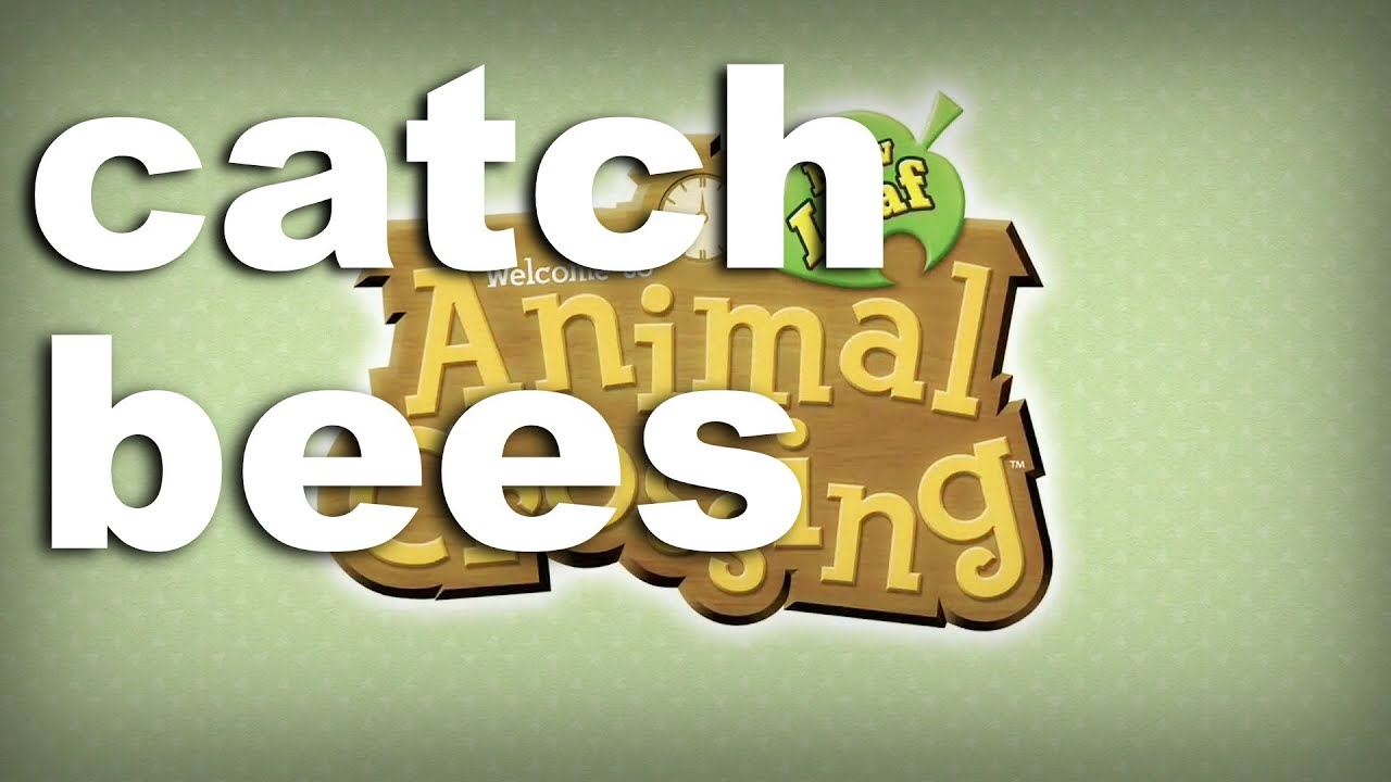 Animal Crossing New Leaf Catching Bees Two Ways Youtube