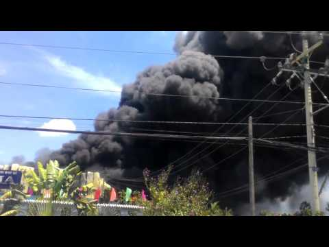 Cháy lớn ở cty saphia, cần đước long an, lúc 12:30.ngay 07-05-2016