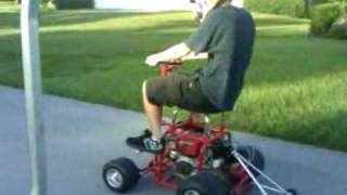 Moving Motorized Barstool Racer Wheelies