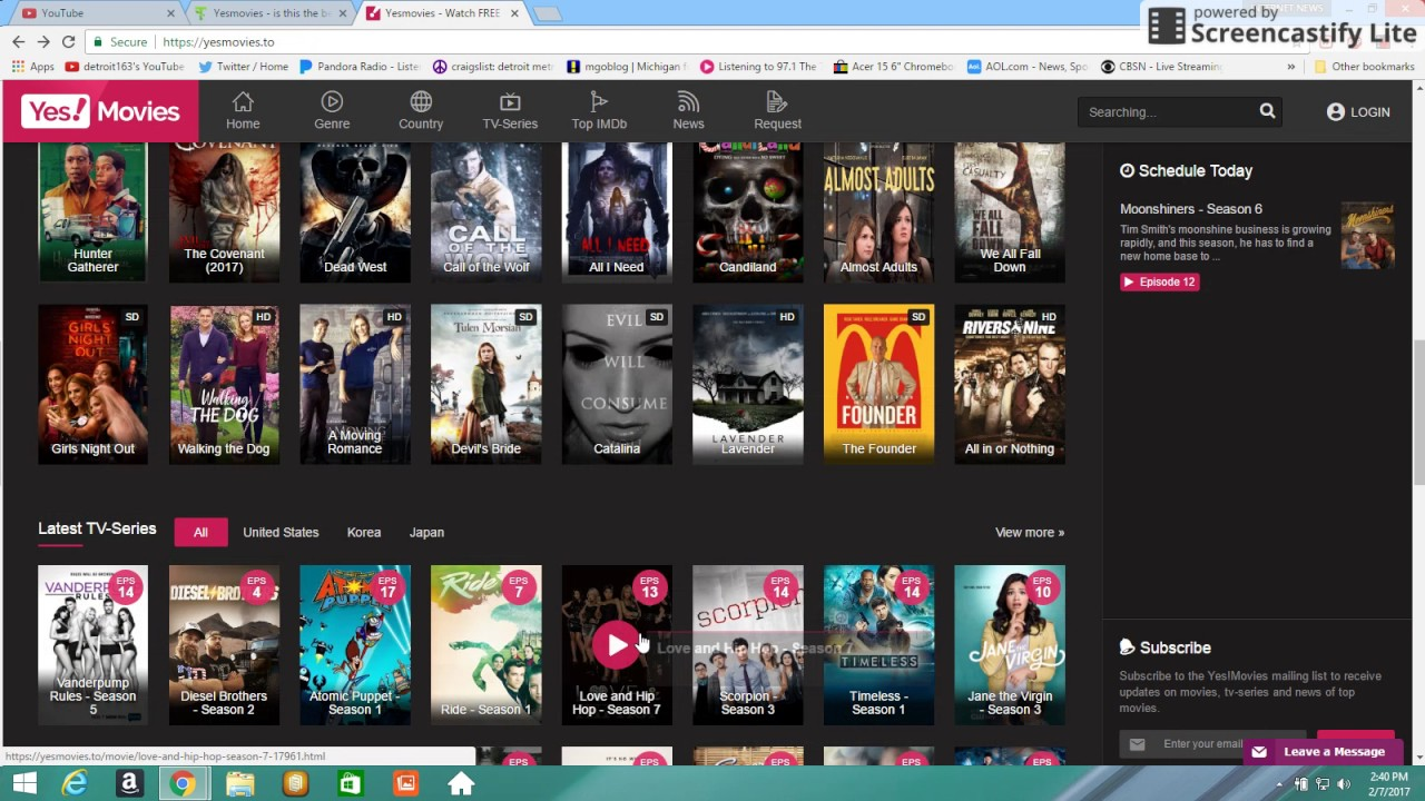 Yes!Movies is one of the latest movie viewing sites today.