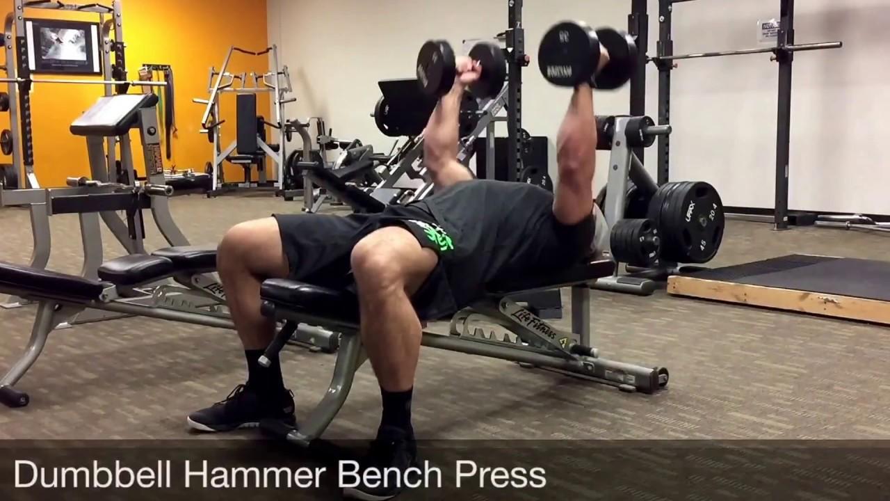 Superior Hammer Grip Bench Press Part - 14: Dumbbell Hammer Bench Press - YouTube