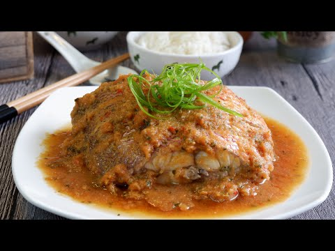 Quick & Easy Restaurant Style Nyonya Steamed Fish (Tangy) 娘惹蒸鱼 Super Easy Recipe For Beginners
