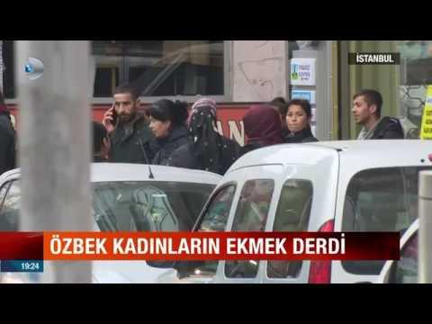 Özbek Kadınların İş Kuyruğu . İstanbul Güngören Soğanlı Caddesi