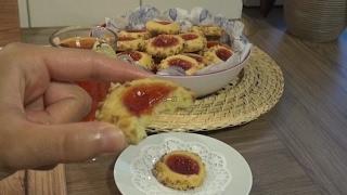 Marmelatli fındık mantolu kurabiye Tarifi
