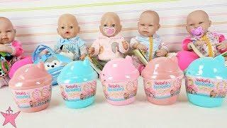Mis bebés juegan con 5 bebés llorones nuevos y con la CASITA que ECHA BURBUJAS DE VERDAD