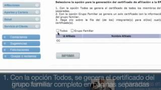nueva eps imprimir certificaciones afiliados