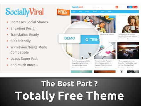 Socially Viral Free WP THEME