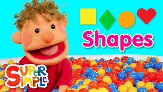 Super Duper Ball Pit | Learn The Shapes: Square, Diamond, Circle, & Heart