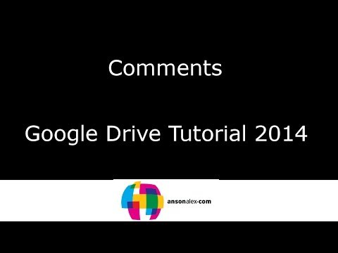 Comments in Google Docs - Google Drive Tutorial 2014