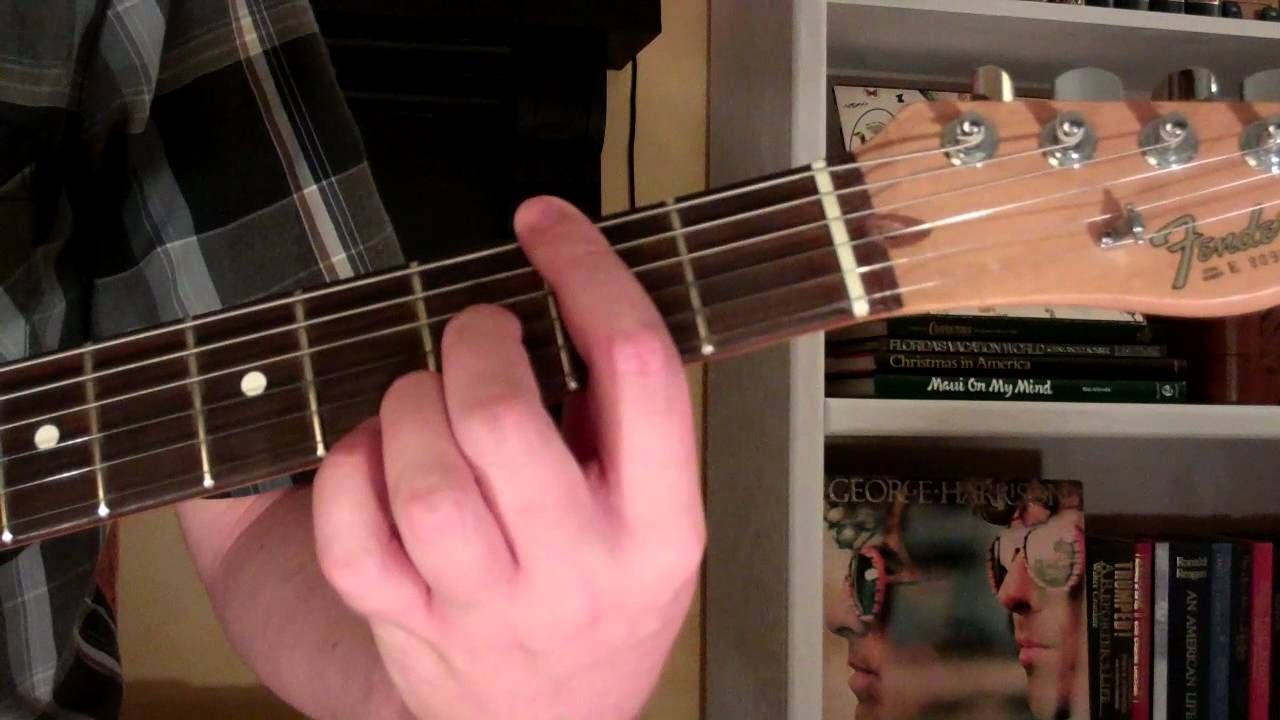 How To Play The F7 9 Chord On Guitar F Sharp 7th Minor 9th Youtube