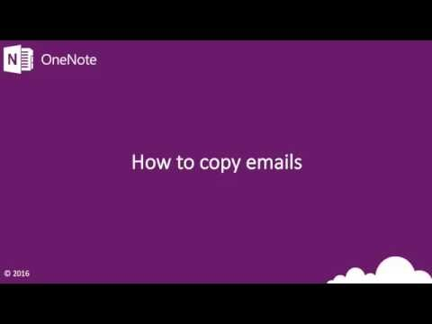 How to copy emails to OneNote